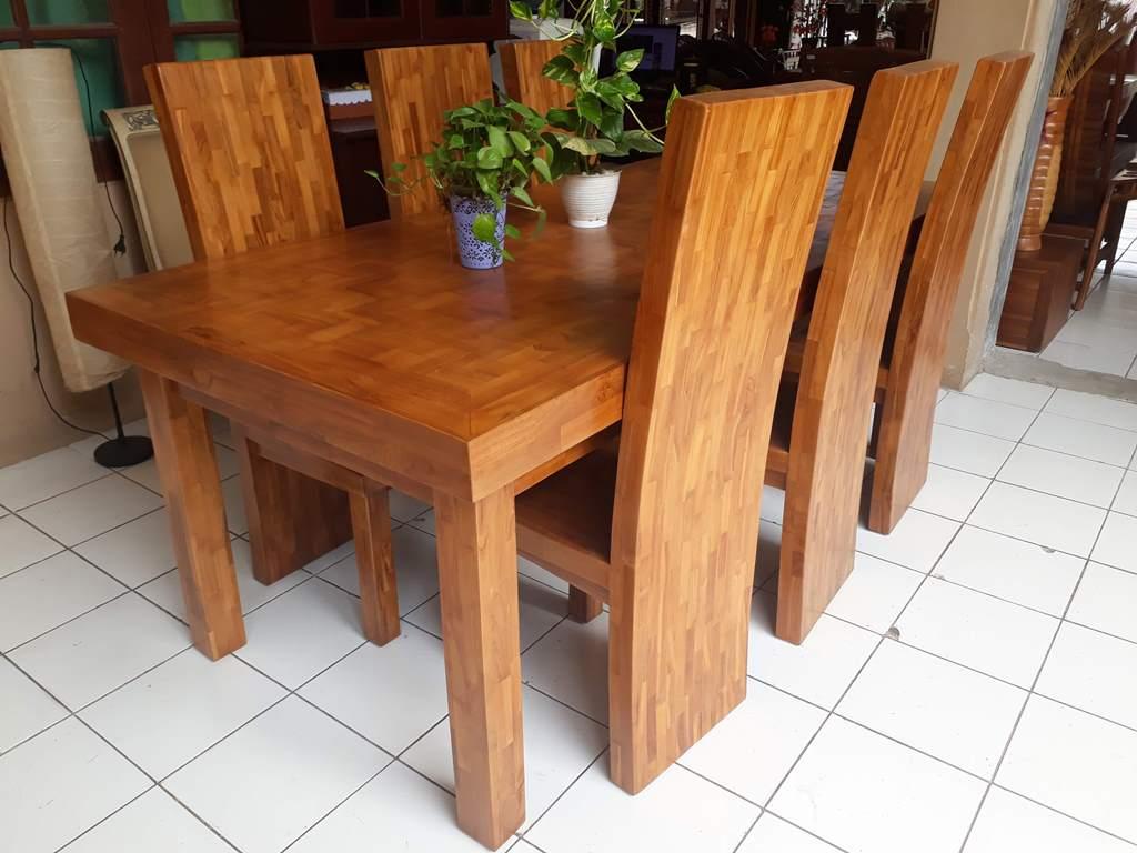 meja makan minimalis 6 kursi